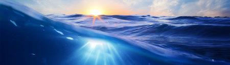 蓝色海水背景高端桌面4K+高清壁纸图片