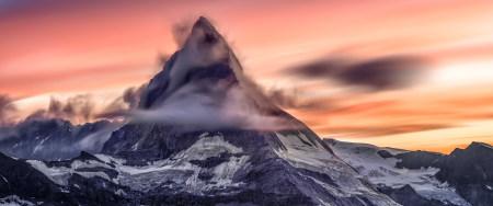 日落时的马特峰风景百变桌面精选高清壁纸