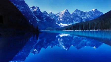 加拿大班夫国家公园梦莲湖风景高端桌面4K+高清壁纸图片