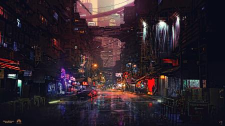 城市夜景插画艺术极品游戏桌面精选4K+高清壁纸