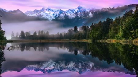 美丽的雪山和湖泊风景百变桌面精选高清壁纸