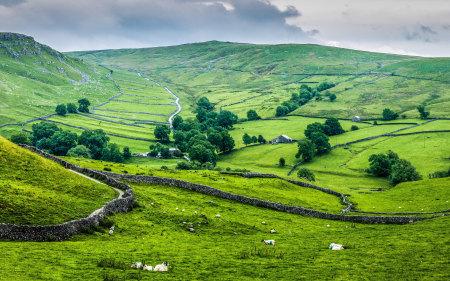 英格兰绿色田野风光高端桌面4K+高清壁纸图片