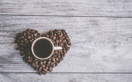 心形咖啡豆和咖啡极品壁纸推荐高清壁纸