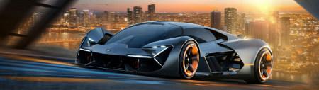 兰博基尼Terzo Millennio电动超级跑车百变桌面精选高清壁纸