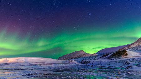 冬天美丽的北极光高端桌面4K+高清壁纸图片