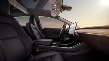 特斯拉Model 3电动汽车驾驶室高端桌面4K+高清壁纸图片