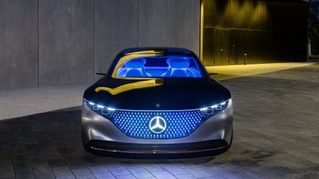 梅赛德斯-奔驰Vision EQS电动概念车百变桌面精选高清壁纸