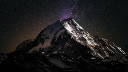 夜晚的山峰和星空高端桌面4K+高清壁纸图片