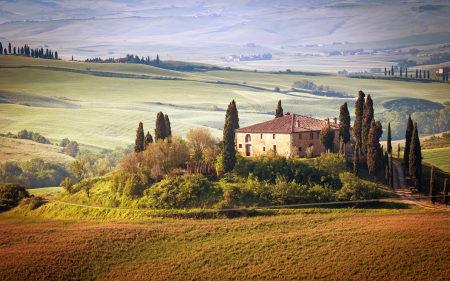 意大利乡村田野树木天空风景高端桌面4K+高清壁纸图片