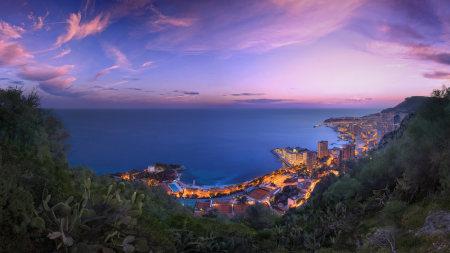 摩纳哥冬天日落风景高端桌面4K+高清壁纸图片