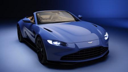 2020款蓝色阿斯顿·马丁Vantage Roadster敞篷跑车百变桌面精选高清壁纸