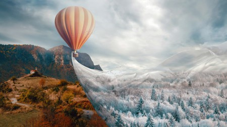 热气球幻想风景高端桌面4K+高清壁纸图片