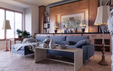 客厅装修高端桌面4K+高清壁纸图片