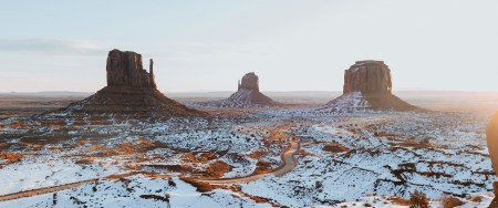 美国纪念碑谷冬天雪景高端桌面4K+高清壁纸图片