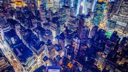 俯瞰都市风景高端桌面4K+高清壁纸图片