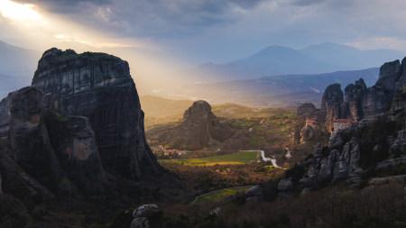 希腊 山脉 道路 日出极品游戏桌面精选4K+高清壁纸