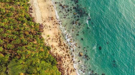 海滩航拍高端桌面4K+高清壁纸图片