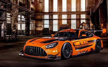 2020款橙色梅赛德斯-AMG GT3高端桌面4K+高清壁纸图片