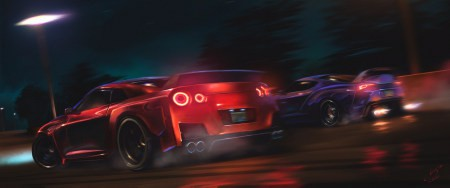 日产GT-R Vs 丰田Supra百变桌面精选高清壁纸
