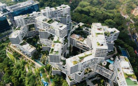 新加坡交错建筑高端桌面4K+高清壁纸图片