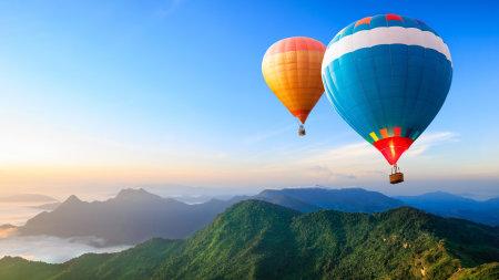 天空中的热气球百变桌面精选高清壁纸
