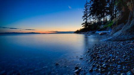黄昏的湖畔风景高端桌面4K+高清壁纸图片