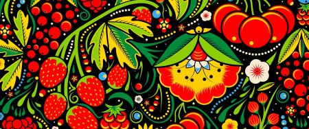 水果和花卉插画艺术极品游戏桌面精选4K+高清壁纸