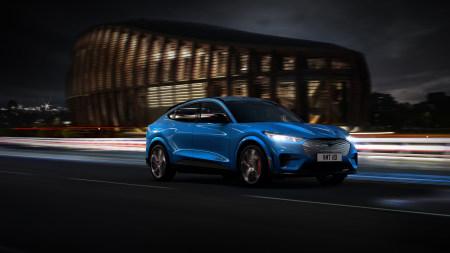 2020款蓝色福特野马Mach-E GT Performance纯电动汽车百变桌面精选高清壁纸