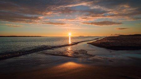 海平面日落风景百变桌面精选高清壁纸