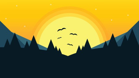 日落风景插画极品游戏桌面精选4K+高清壁纸