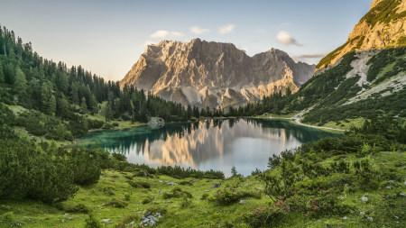 奥地利Seebensee高山湖泊风景极品壁纸推荐高清壁纸