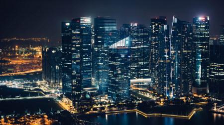 新加坡摩天大楼滨海湾之夜极品游戏桌面精选4K+高清壁纸