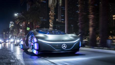 2020款梅赛德斯-奔驰Vision Avtr概念车高端桌面4K+高清壁纸图片