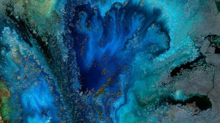 蓝色抽象纹理高端桌面4K+高清壁纸图片