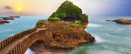 海上小岛和日落高端桌面4K+高清壁纸图片