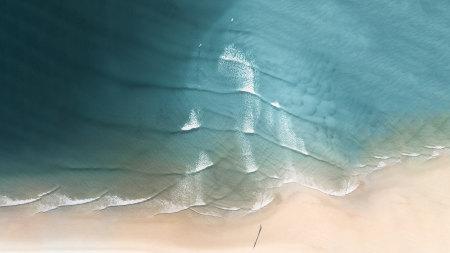 海滩俯拍风景高端桌面4K+高清壁纸图片