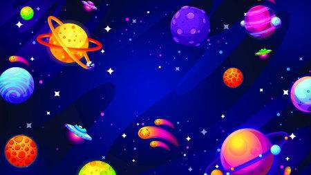 UFO 行星插画极品游戏桌面精选4K+高清壁纸