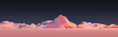 低多边形群山插画极品游戏桌面精选4K+高清壁纸