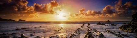 日落海岸岩石高端桌面4K+高清壁纸图片