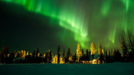 芬兰北极光极品壁纸推荐高清壁纸
