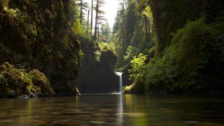 山间瀑布风景高端桌面4K+高清壁纸图片