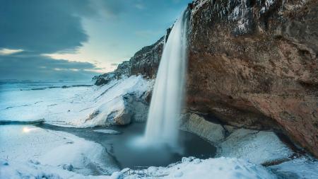瀑布 雪景高端桌面4K+高清壁纸图片