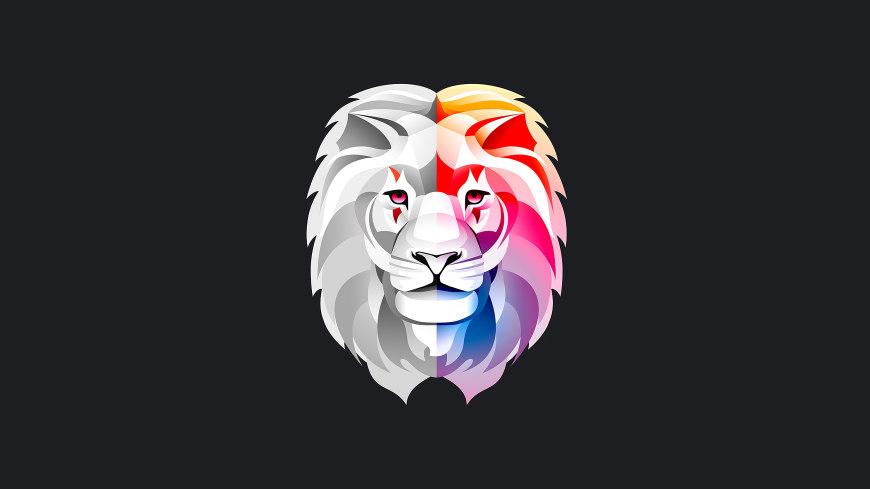 彩色狮子头像插画极品游戏桌面精选4K+高清壁纸
