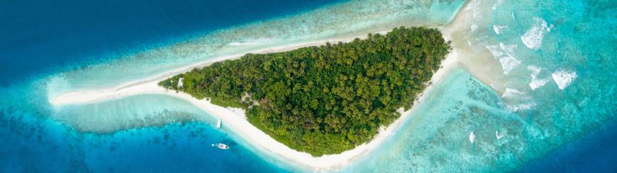 马尔代夫双鱼岛航拍百变桌面精选高清壁纸