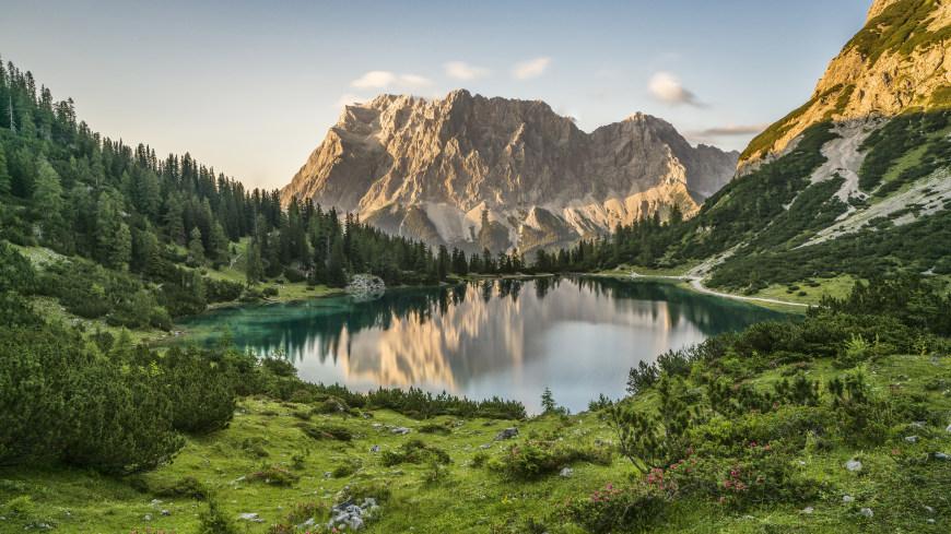 奥地利Seebensee高山湖泊风景高端桌面4K+高清壁纸图片